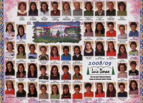 Alumnos de 6º curso : 2008-09