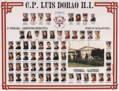 Alumnos de 6º curso  -  1997 / 1998