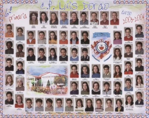 Alumnos de 6º curso - 2003 / 2004