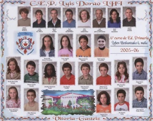 Alumnos de 6º curso  -  2005 / 2006