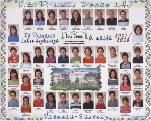Alumnos de 6º curso - 2007 / 2008