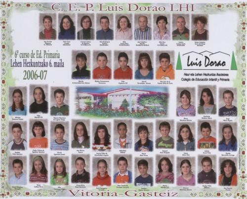 Alumnos de 6º : curso 2006/2007